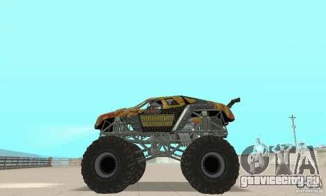 Monster Truck Maximum Destruction для GTA San Andreas вид справа