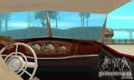 Mercedes-Benz 500K для GTA San Andreas вид изнутри