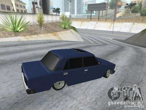 ВАЗ 2107 v2 для GTA San Andreas вид сзади