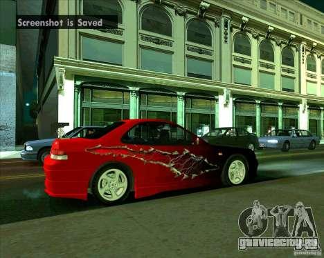 Honda Prelude с тюнингом для GTA San Andreas вид справа