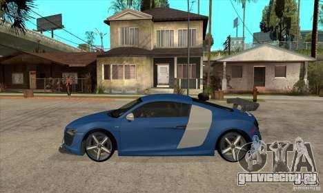 Audi R8 V10 v2 для GTA San Andreas вид слева
