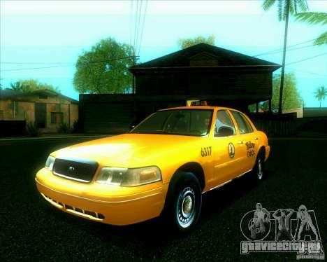 Ford Crown Victoria 2003 TAXI для GTA San Andreas вид сзади