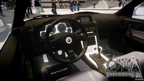 Nissan Skyline GT-R R34 2002 v1 для GTA 4 вид справа