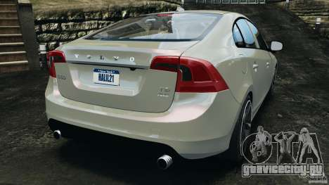 Volvo S60 R Design для GTA 4 вид сзади слева