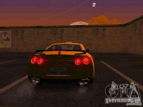 Nissan GT-R SpecV Black Revel для GTA San Andreas вид справа