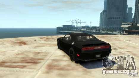 Dodge Challenger SRT8 для GTA 4 вид справа