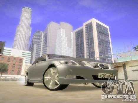 Lexus GS450H для GTA San Andreas вид сзади
