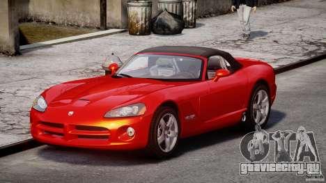 Dodge Viper SRT-10 2003 1.0 для GTA 4