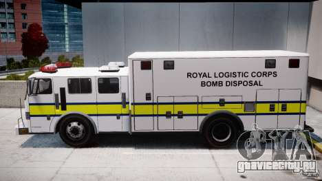 Royal Logistic Corps Bomb Disposal Truck для GTA 4 вид слева