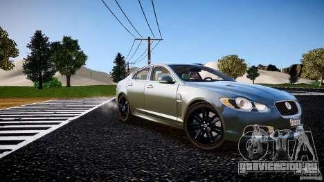 Jaguar XFR 2010 для GTA 4 вид справа