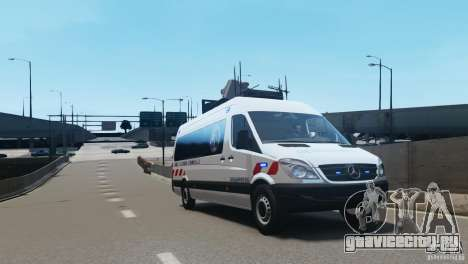 Mercedes-Benz Sprinter-Identification Criminelle для GTA 4 вид слева