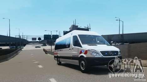 Mercedes-Benz Sprinter-Identification Criminelle для GTA 4 вид слева