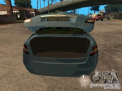Toyota Camry для GTA San Andreas вид сзади