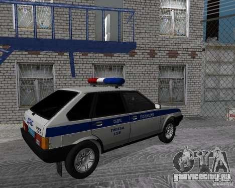 ВАЗ 2109 ДПС для GTA San Andreas вид слева