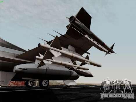 F-16C Warwolf для GTA San Andreas вид сбоку
