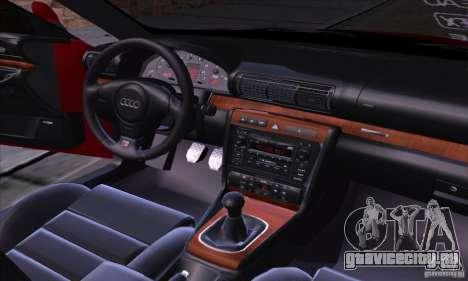 Audi S4 Light Tuning для GTA San Andreas вид изнутри