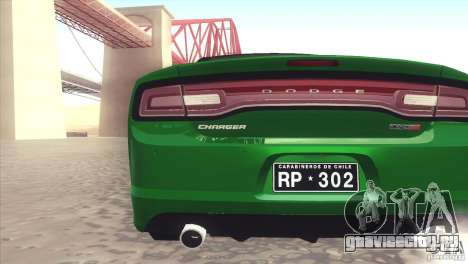 Dodge Charger SRT8 Carabineros для GTA San Andreas вид справа