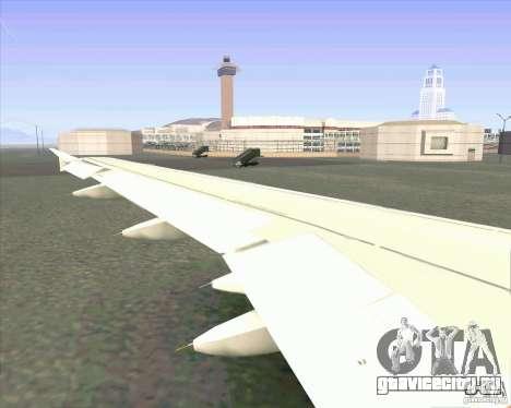 Airbus A-320 авиакомпании UTair для GTA San Andreas вид сзади