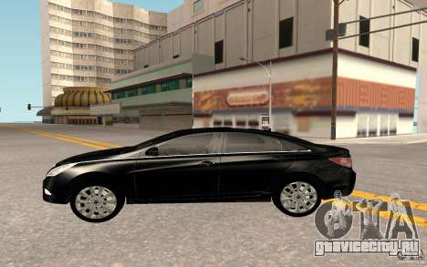 Hyundai Sonata 2012 для GTA San Andreas вид изнутри