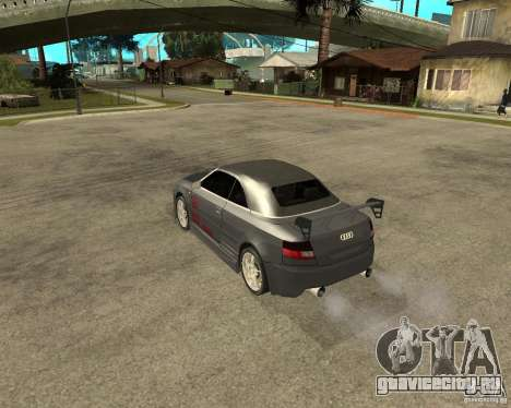 AUDI A4 Cabriolet для GTA San Andreas вид сзади слева