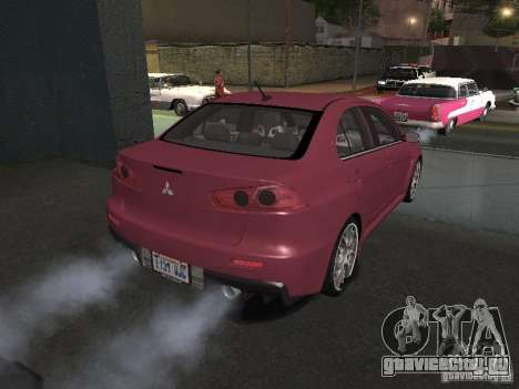 Mitsubishi Evolution X Stock-Tunable для GTA San Andreas салон