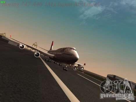 Boeing 747-446 Japan-Airlines для GTA San Andreas вид сзади