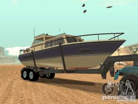 Boat Trailer для GTA San Andreas вид сзади