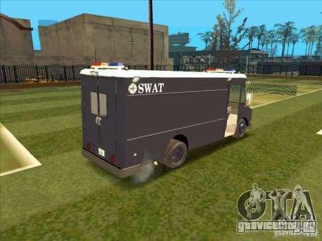 Swat Van from L.A. Police для GTA San Andreas вид сзади