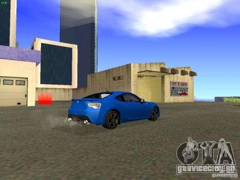 Toyota GT86 Limited для GTA San Andreas вид сбоку