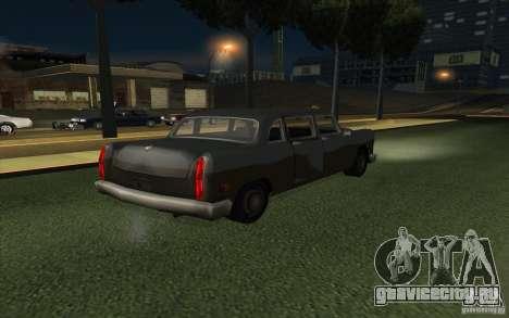 Civilian Cabbie для GTA San Andreas вид справа