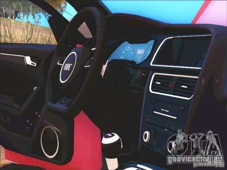 Audi RS4 Avant B8 2013 для GTA San Andreas вид изнутри