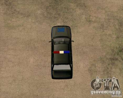 Ваз 2115 ДПС для GTA San Andreas вид сзади