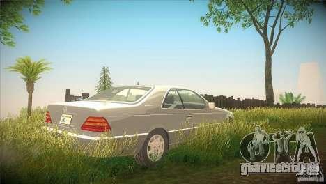 Mercedes Benz 600 SEC для GTA San Andreas вид справа