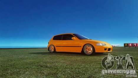 Honda Civic Tuned для GTA 4 вид слева