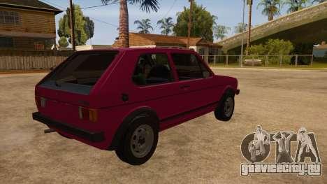 Volkwagen Golf MK1 Stock для GTA San Andreas