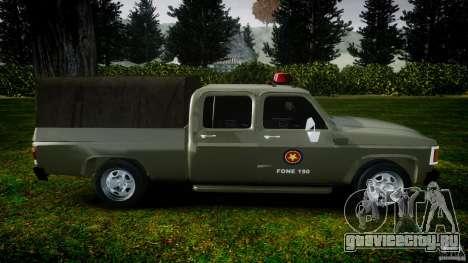 Chevrolet D20 Brigada Militar RS для GTA 4 вид слева