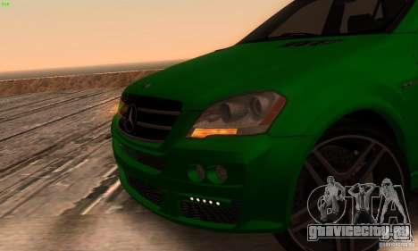 Mercedes-Benz ML63 AMG Brabus для GTA San Andreas вид сзади