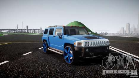 Hummer H3 для GTA 4 вид изнутри