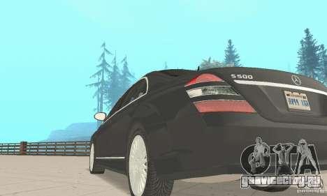 Mercedes-Benz S500 (w221) 2006 для GTA San Andreas вид сзади
