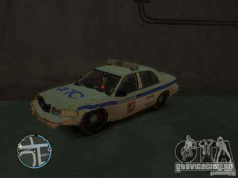 Ford Crown Victoria Милиция для GTA 4 вид сзади