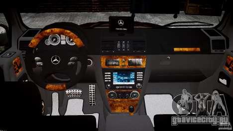 Mercedes Benz G55 AMG Final для GTA 4 вид сверху