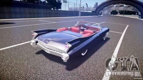 Cadillac Eldorado 1959 interior red для GTA 4 вид сверху