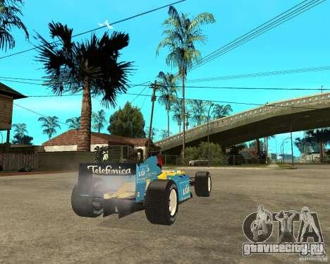 Renault F1 для GTA San Andreas вид сзади слева
