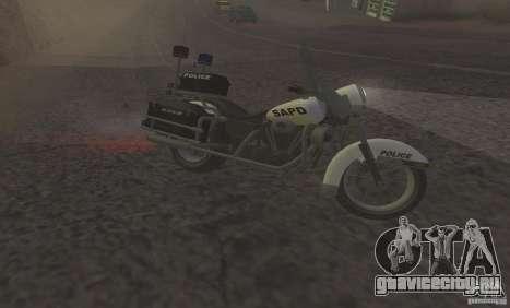 Полицейский мотоцикл из GTA TBoGT для GTA San Andreas вид слева