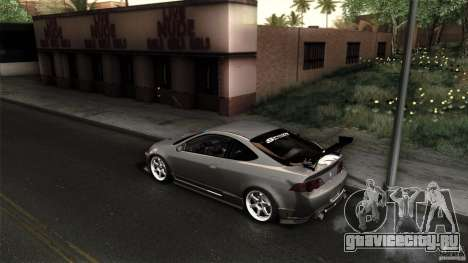 Acura RSX Spoon Sports для GTA San Andreas вид изнутри