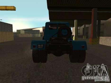 МАЗ-504 А для GTA San Andreas вид сзади слева