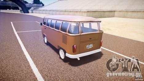 Volkswagen Kombi Bus для GTA 4 вид изнутри