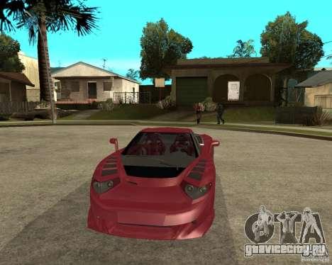 B-Engineering Edonis для GTA San Andreas вид сзади