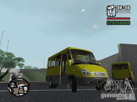 БАЗ 2215 ДЕЛЬФИН для GTA San Andreas вид сзади слева