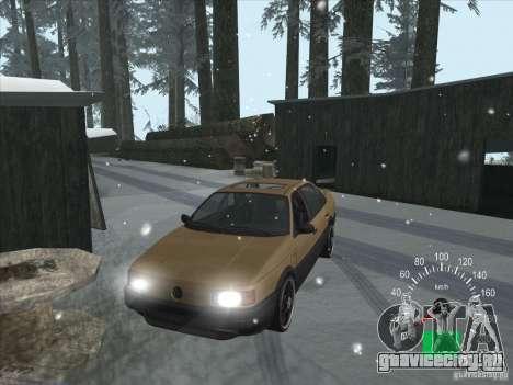 Volkswagen Passat B3 для GTA San Andreas вид изнутри